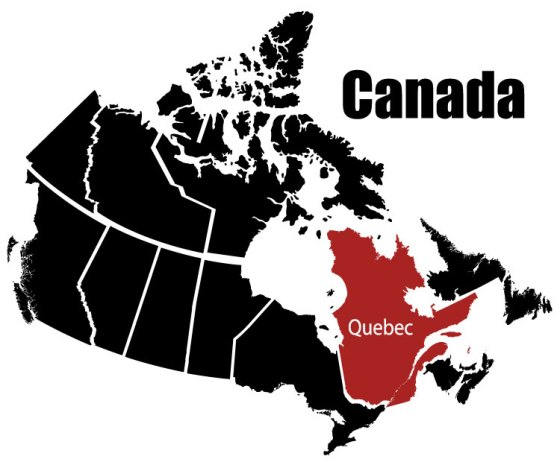 Map of Canada & Quebec