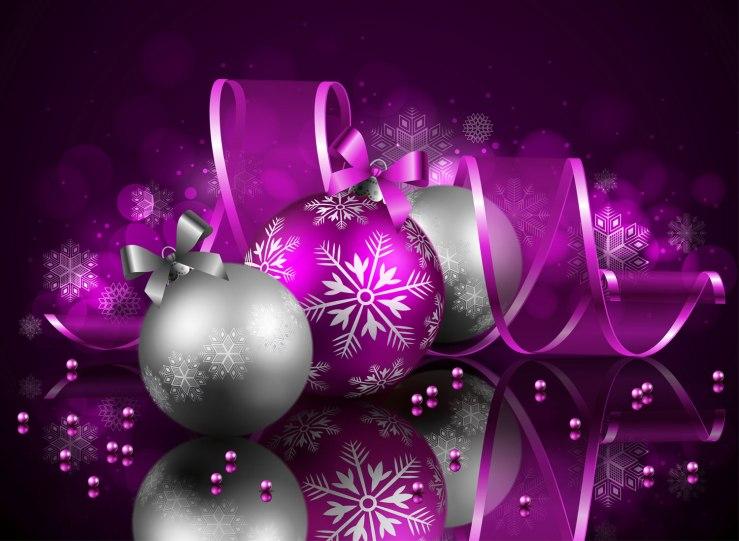 Christmas balls and ribbon